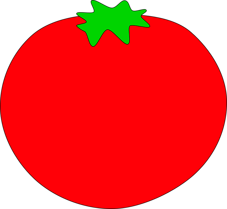 Tomato red frames illustrations. Circle clipart food