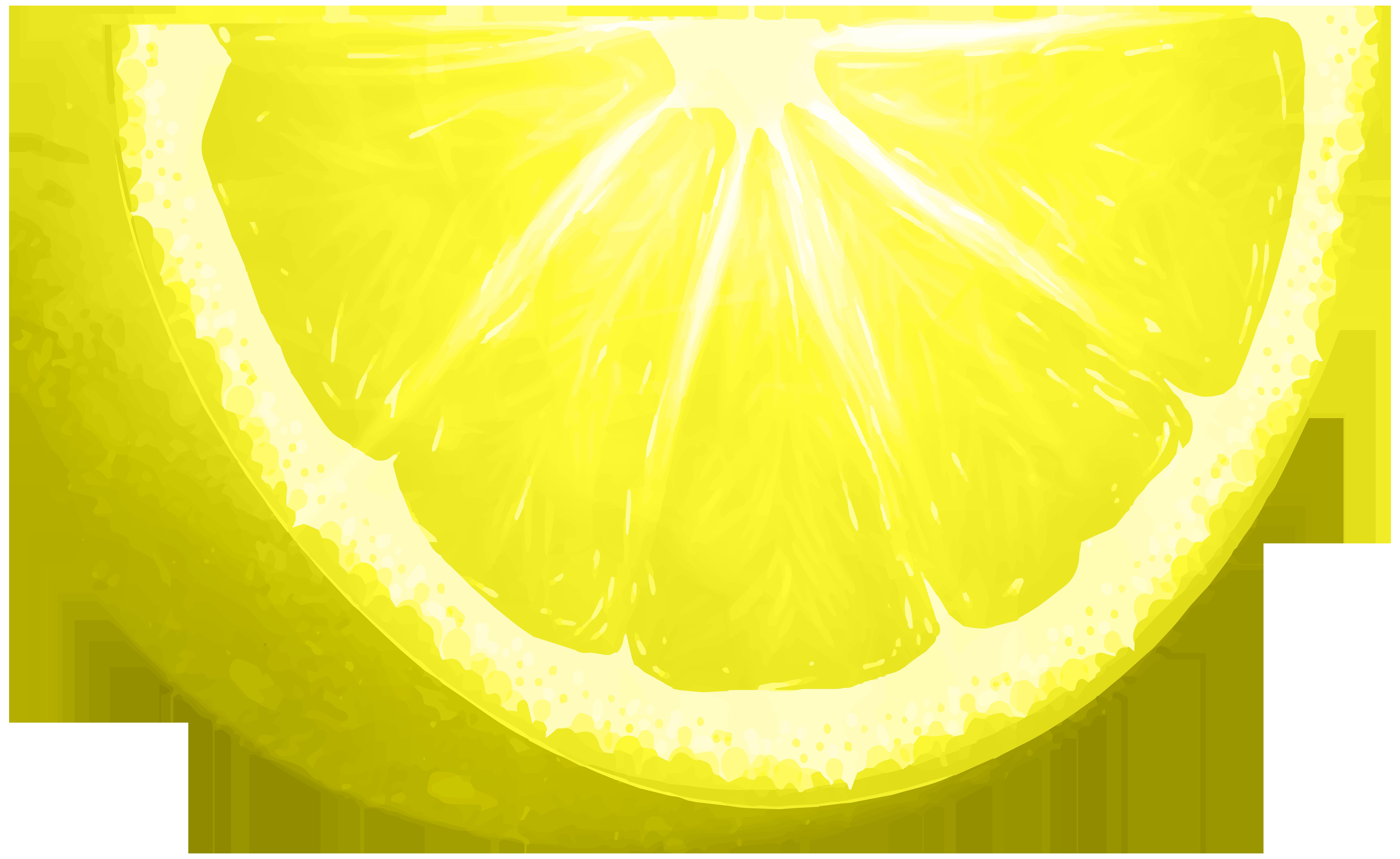 Circle clipart fruit. Lemon slice png clip