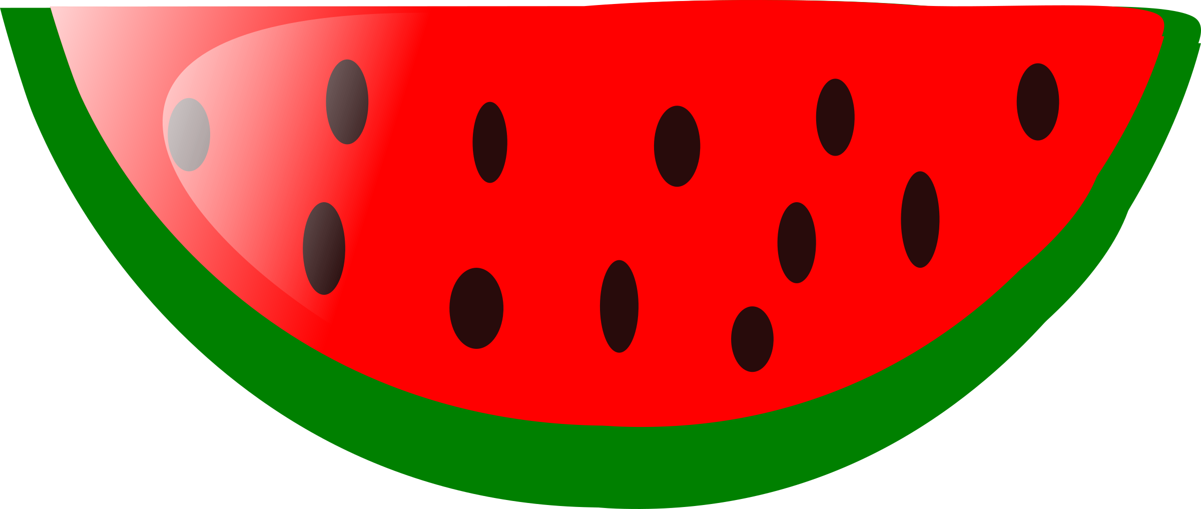 Watermelon big image png. Circle clipart fruit