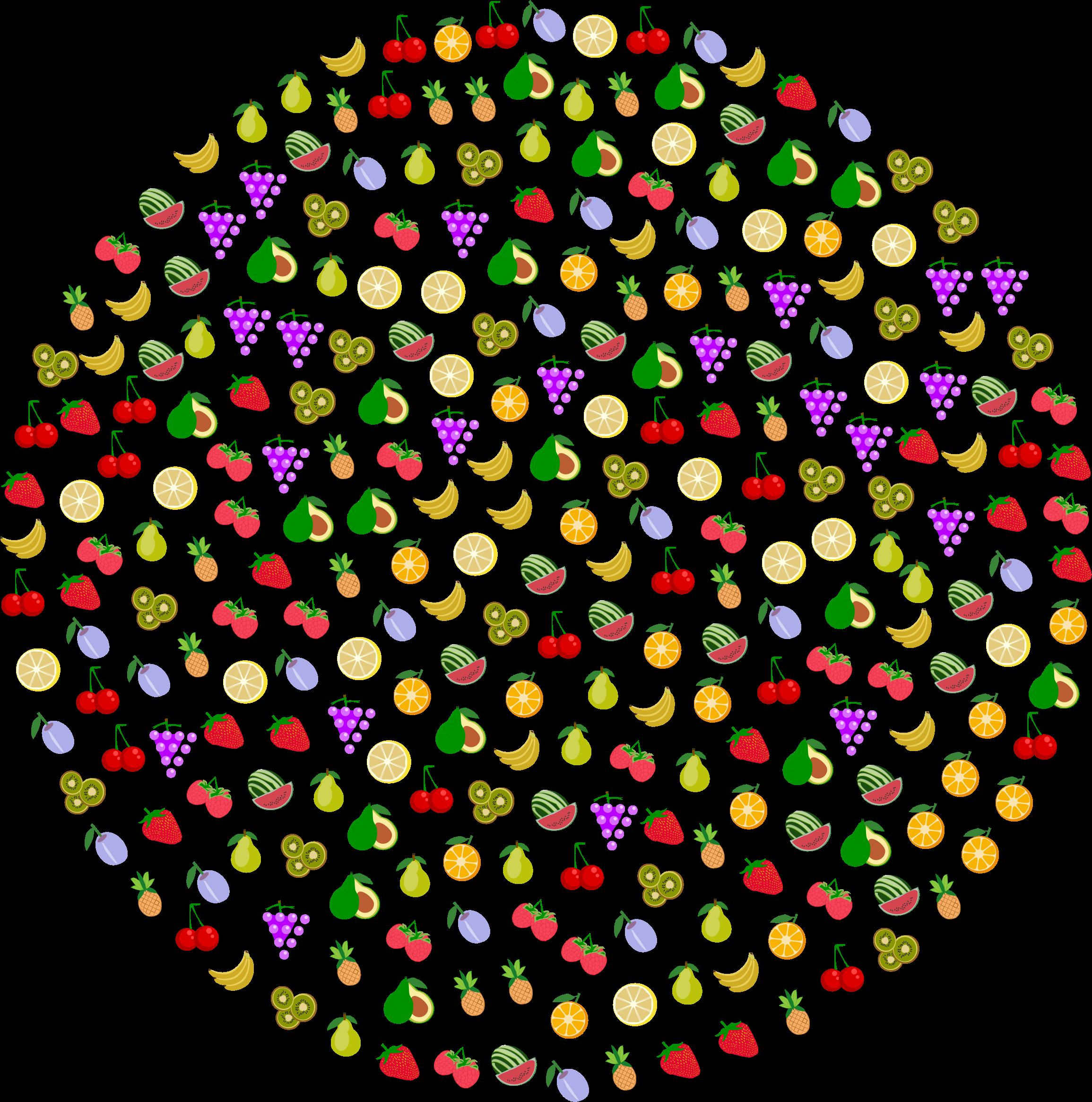 Circle clipart fruit. Big image png