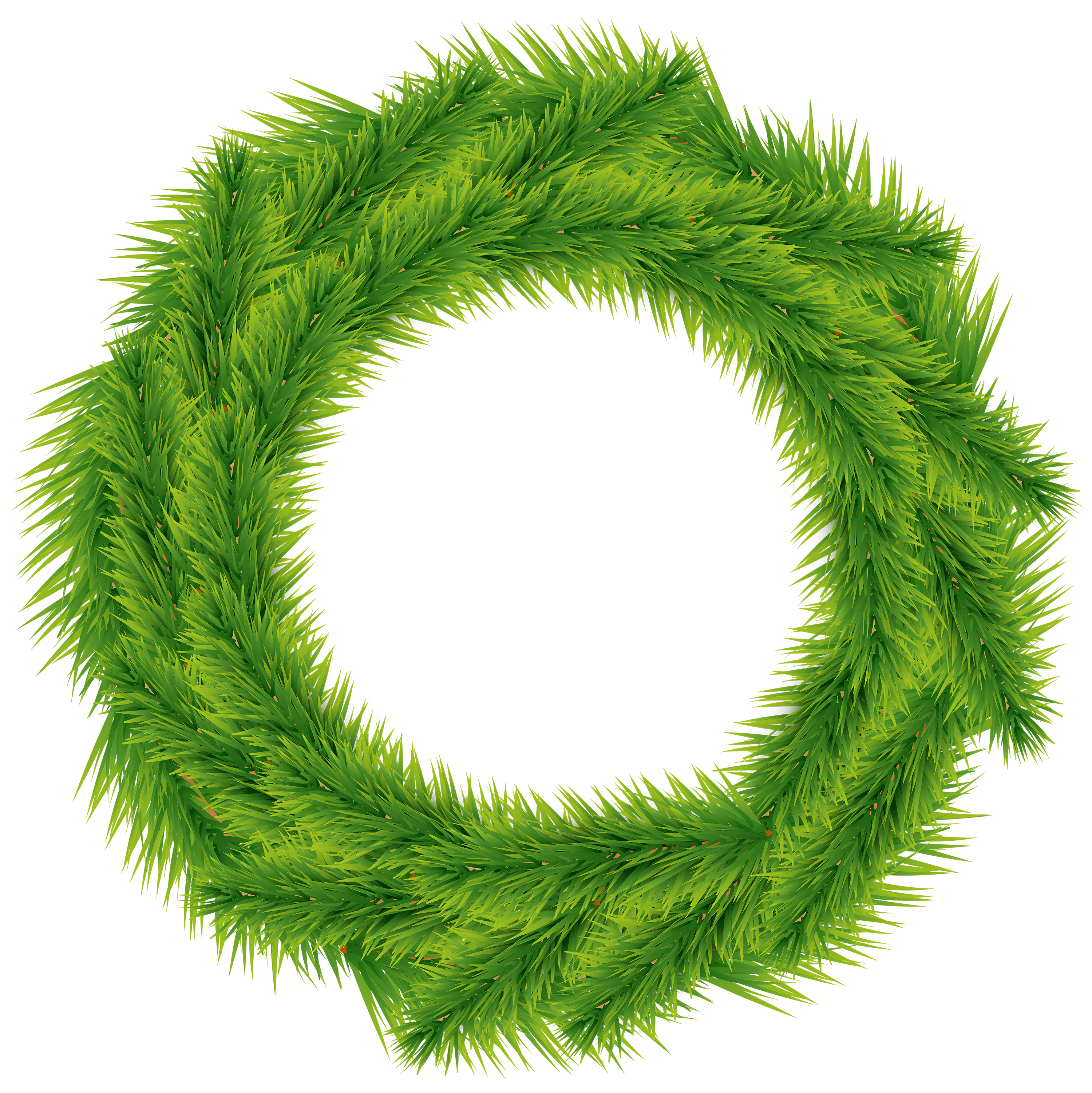 Christmas wreath green clip. Clipart grass circle