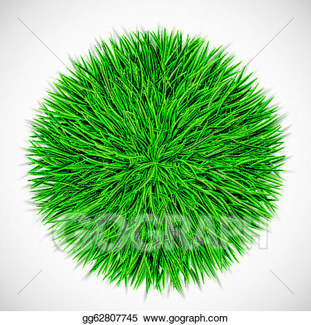 Clipart grass circle. Vector background with of