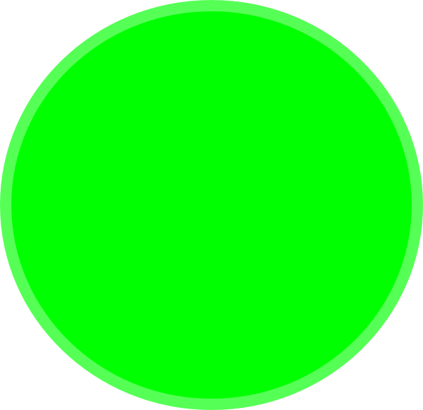 Picture clipart circle. Green