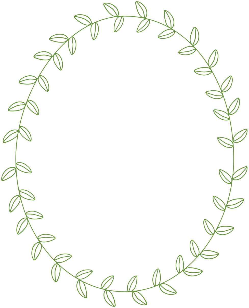 Free frame with leaves. Circle clipart greenery