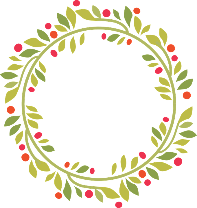 Circle clipart greenery. Free image on pixabay