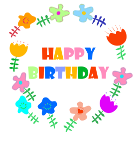 Circle clipart happy birthday. Clip art and free