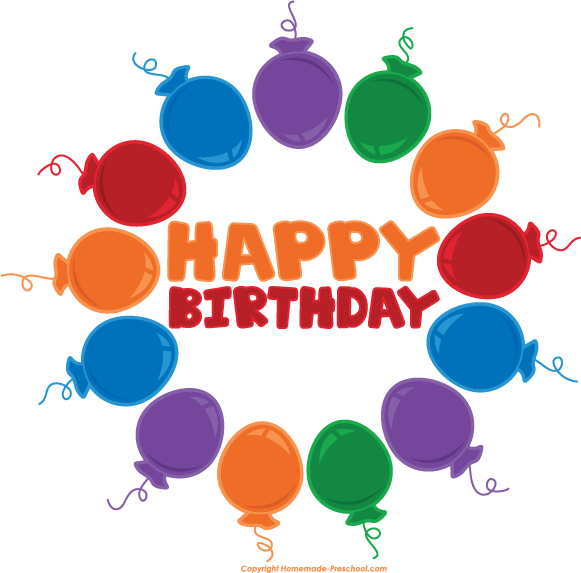 Free happy birthday clipartbarn. Clipart balloon circle