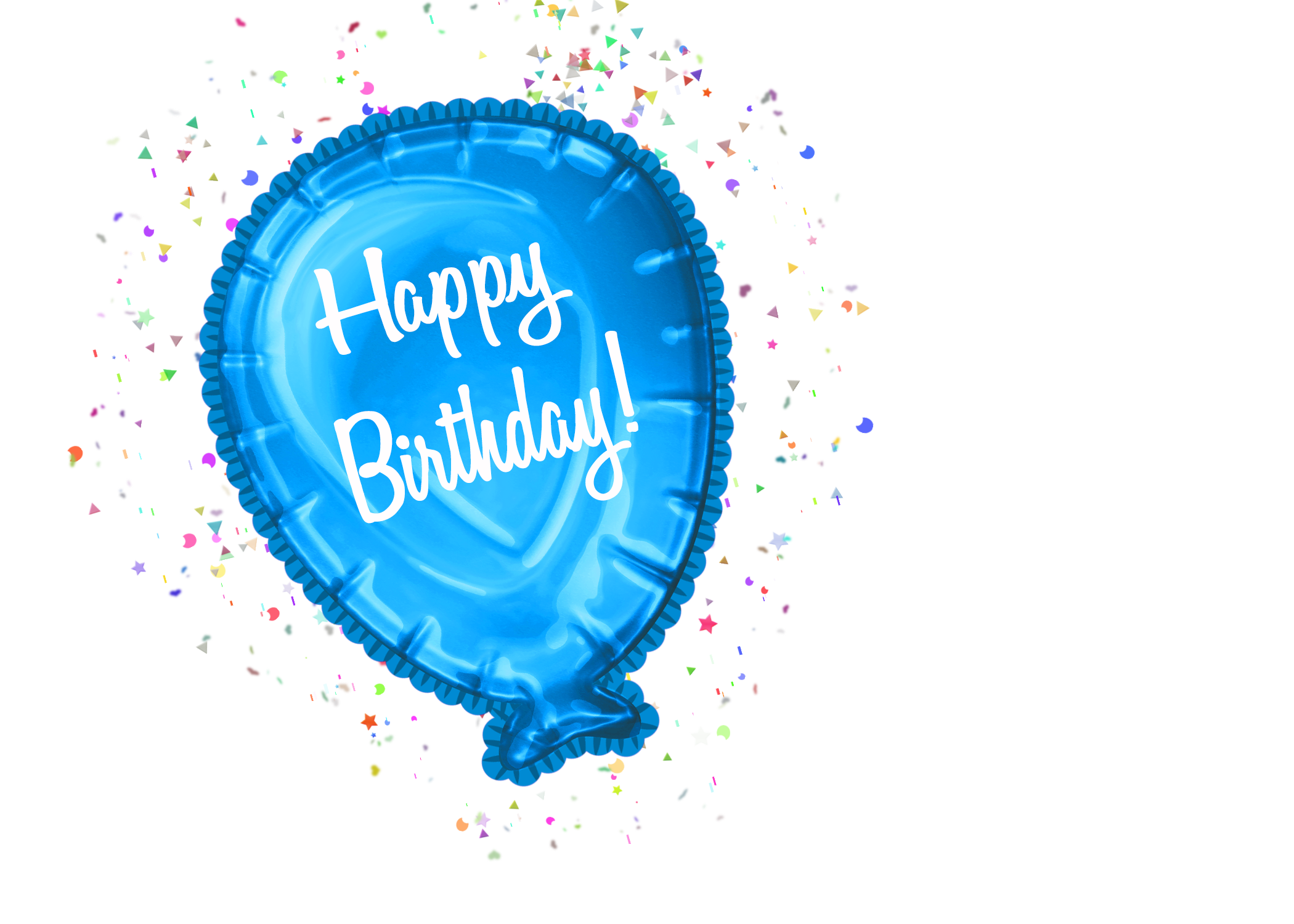 Happy Birthday Balloon Clipart CU – CuteCrafting