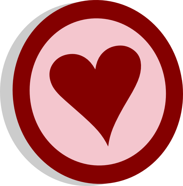 Circle clipart heart. Symbol vote clip art