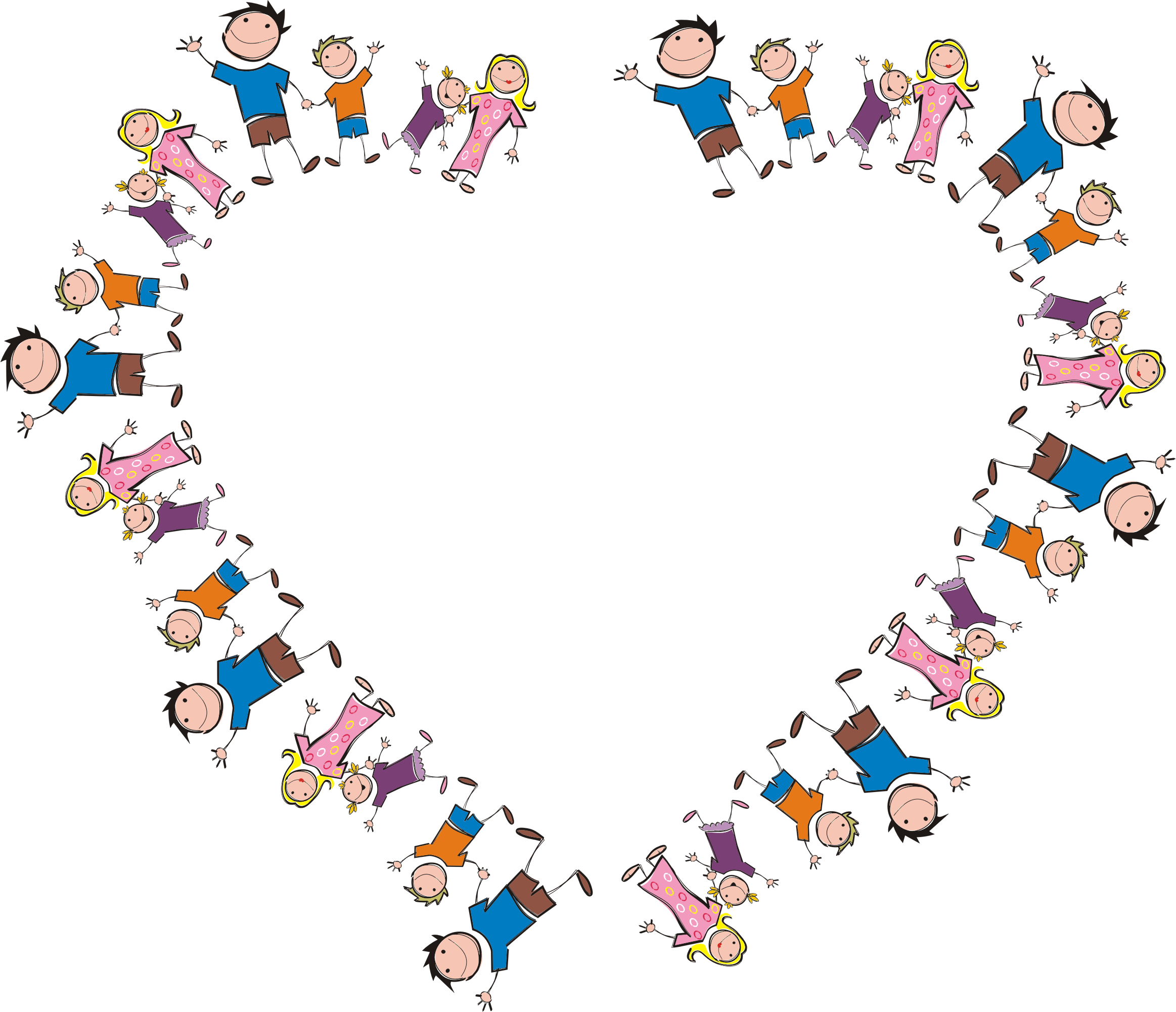 Stick figure family big. Circle clipart heart