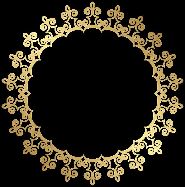 Round border frame transparent. Frames clipart gold glitter