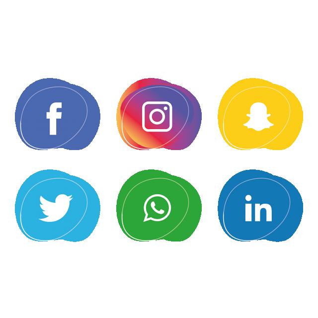 Icons set facebook instagram. Tree clipart social media
