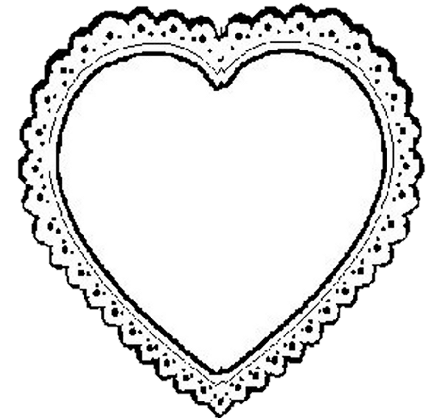 Heart . Circle clipart lace