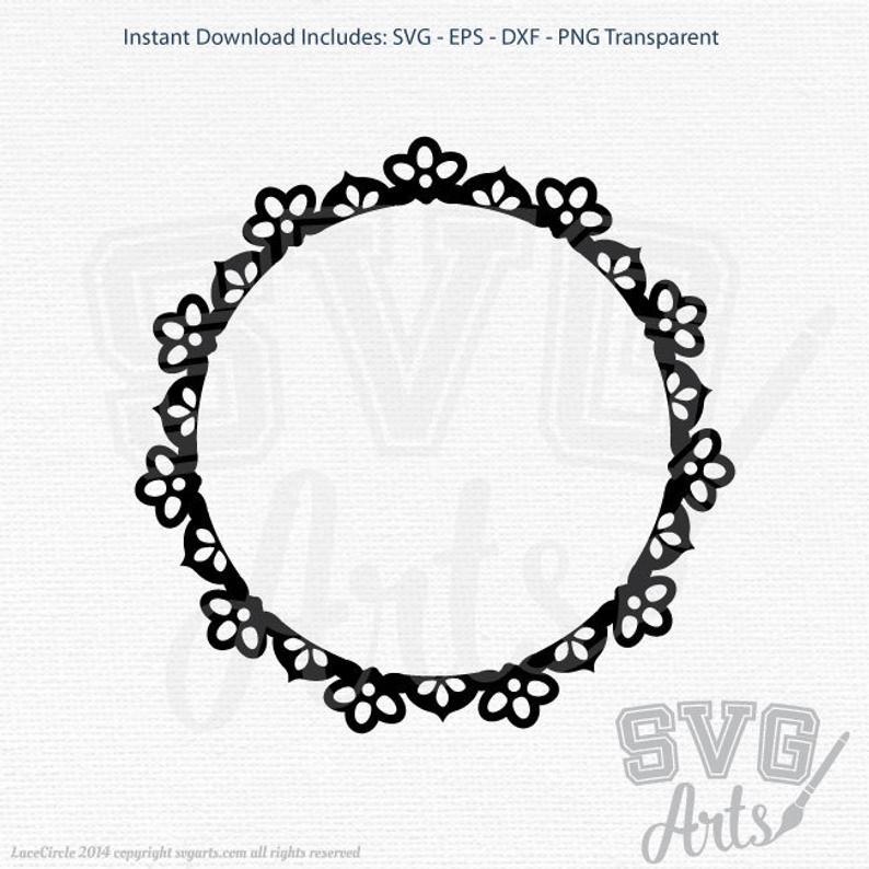 Clip art svg eps. Circle clipart lace