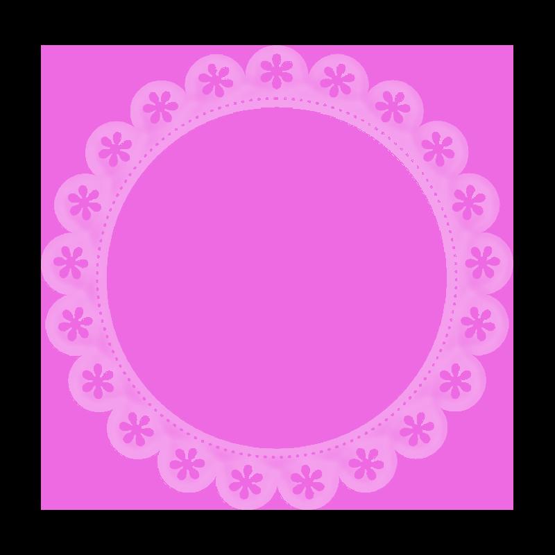 Circle clipart lace. Lacarolita just beautiful frame