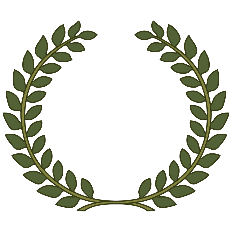 collection of laurel. Circle clipart leaf