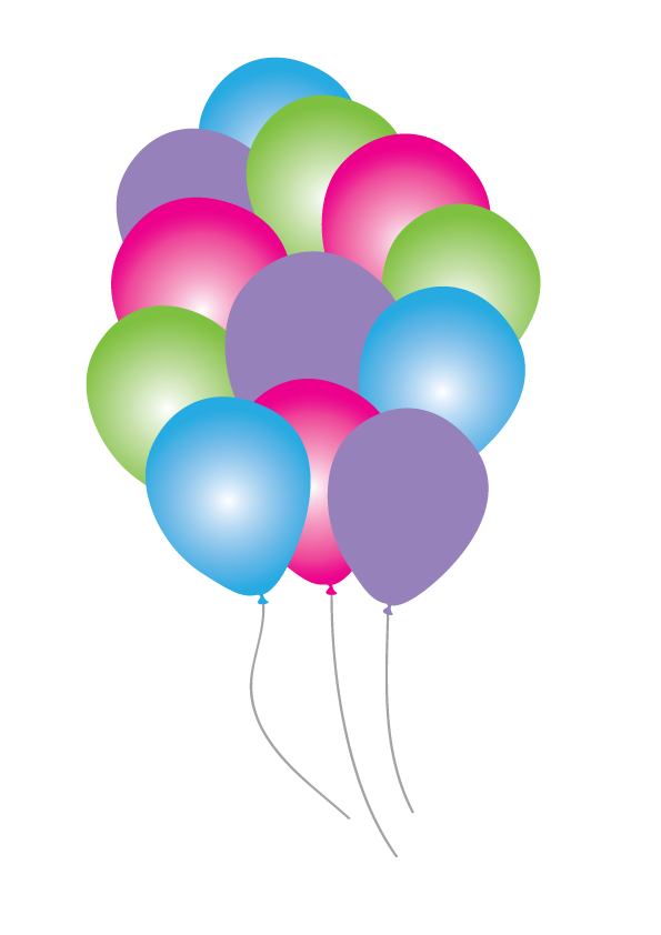 The little balloons party. Circle clipart mermaid