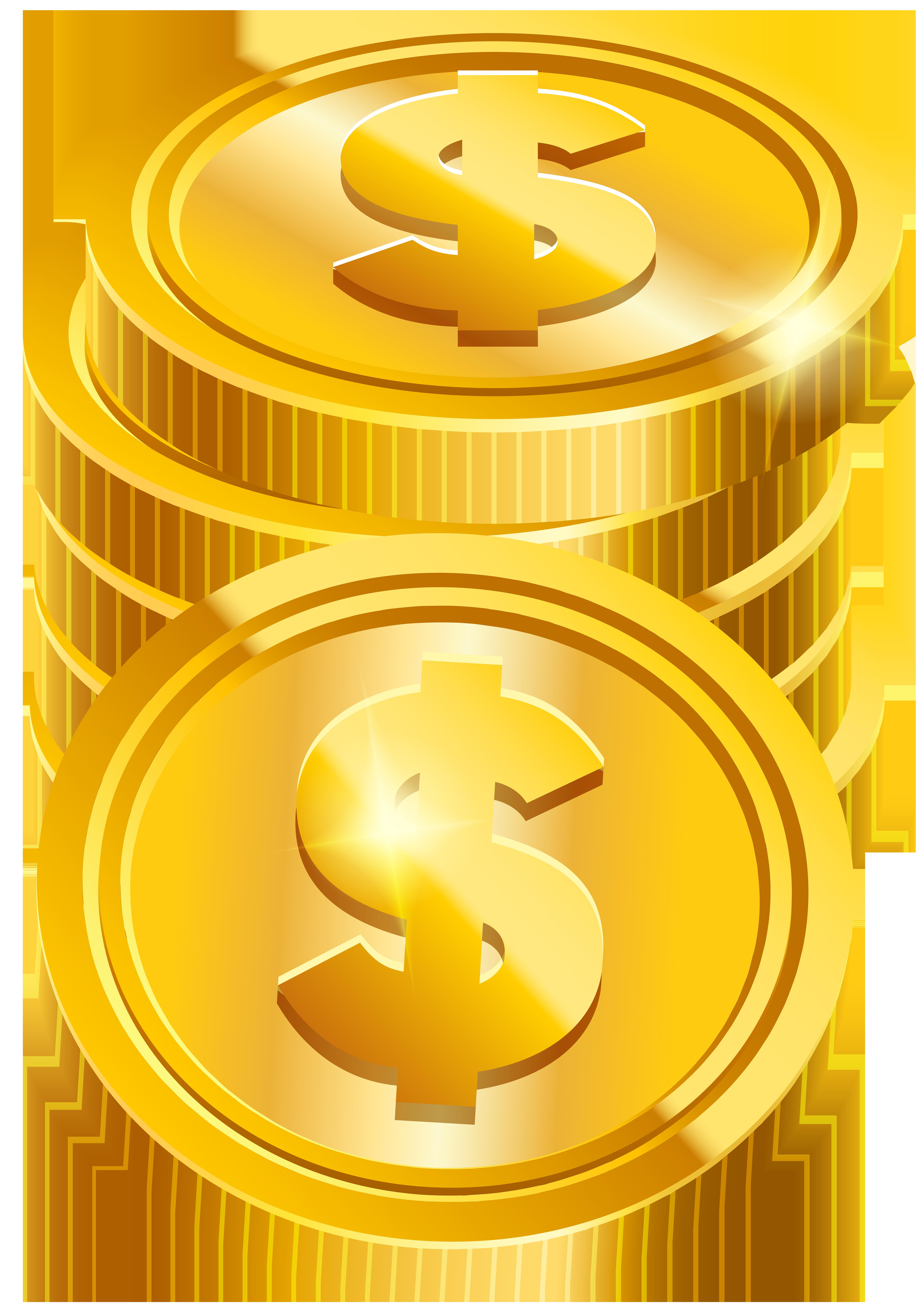 Coins clipart silhouette. Transparent png clip art