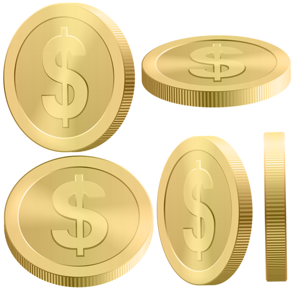 Coins png clip art. Coin clipart real gold