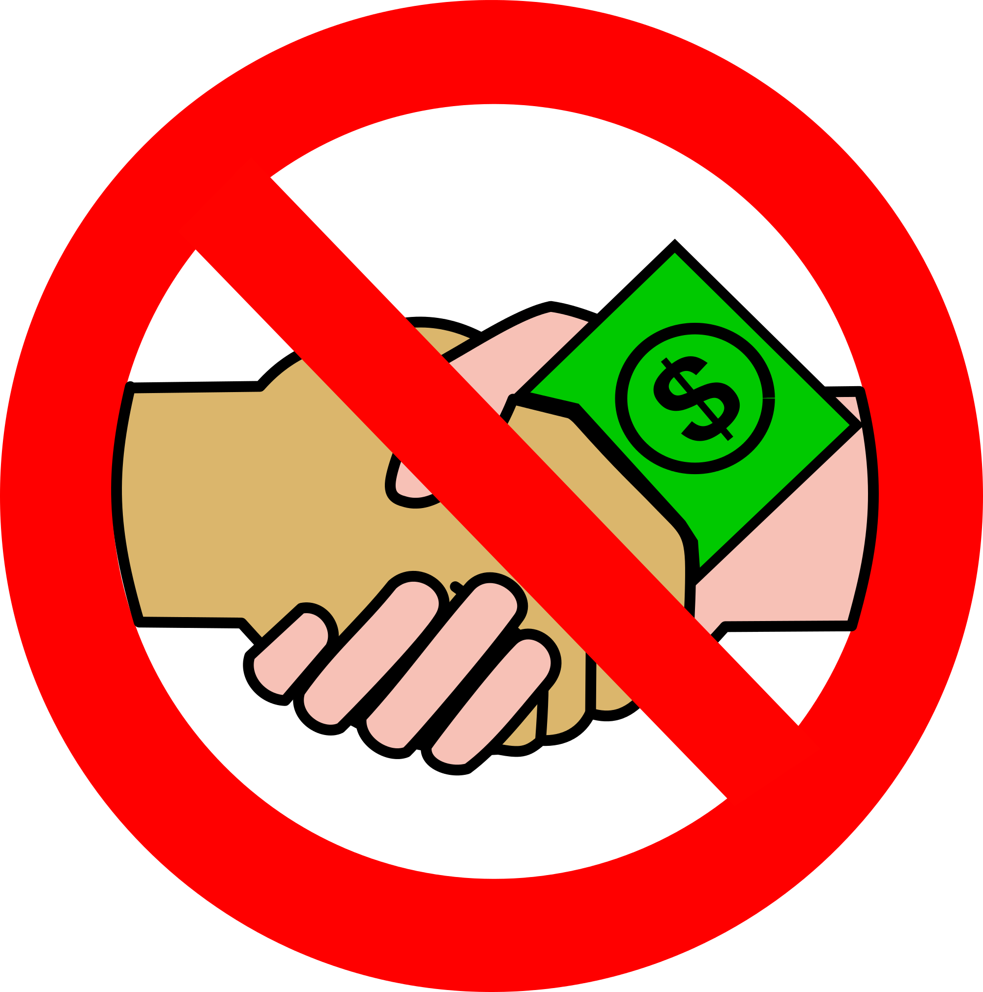 File a no money. Handshake clipart artistic