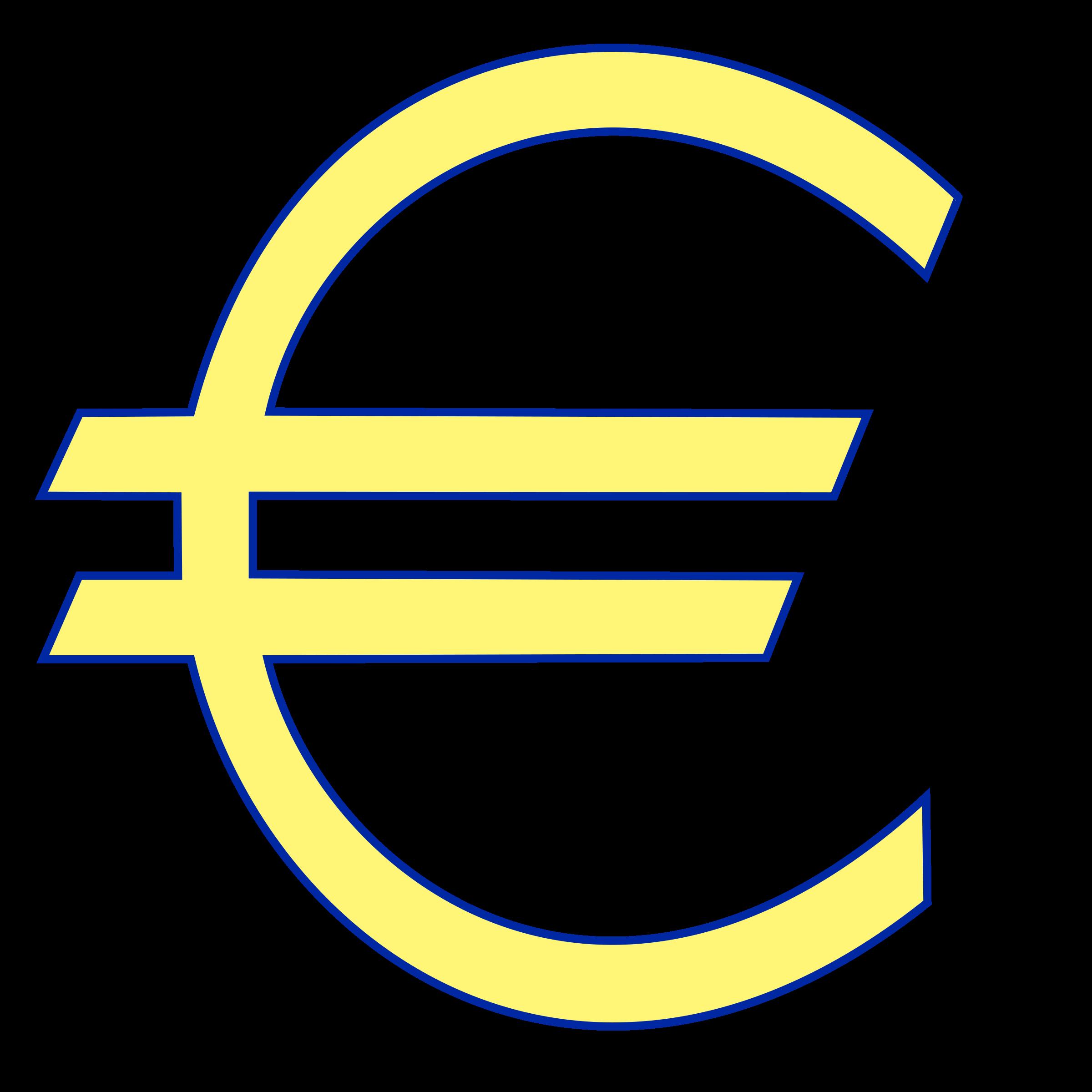 Euro symbol big image. Clipart circle money