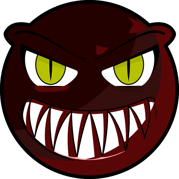 Red face clip art. Circle clipart monster
