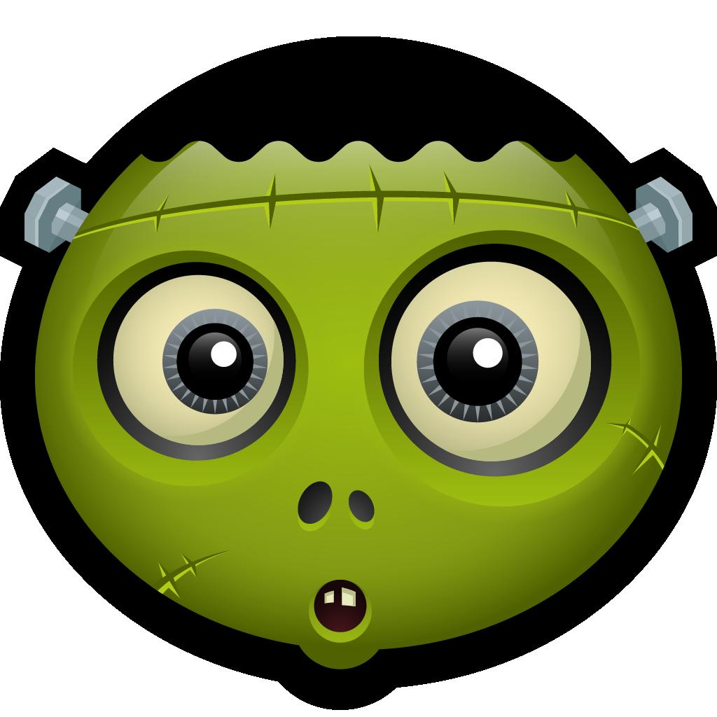 Zombie clipart eyes. Monster avatar alien cyclops