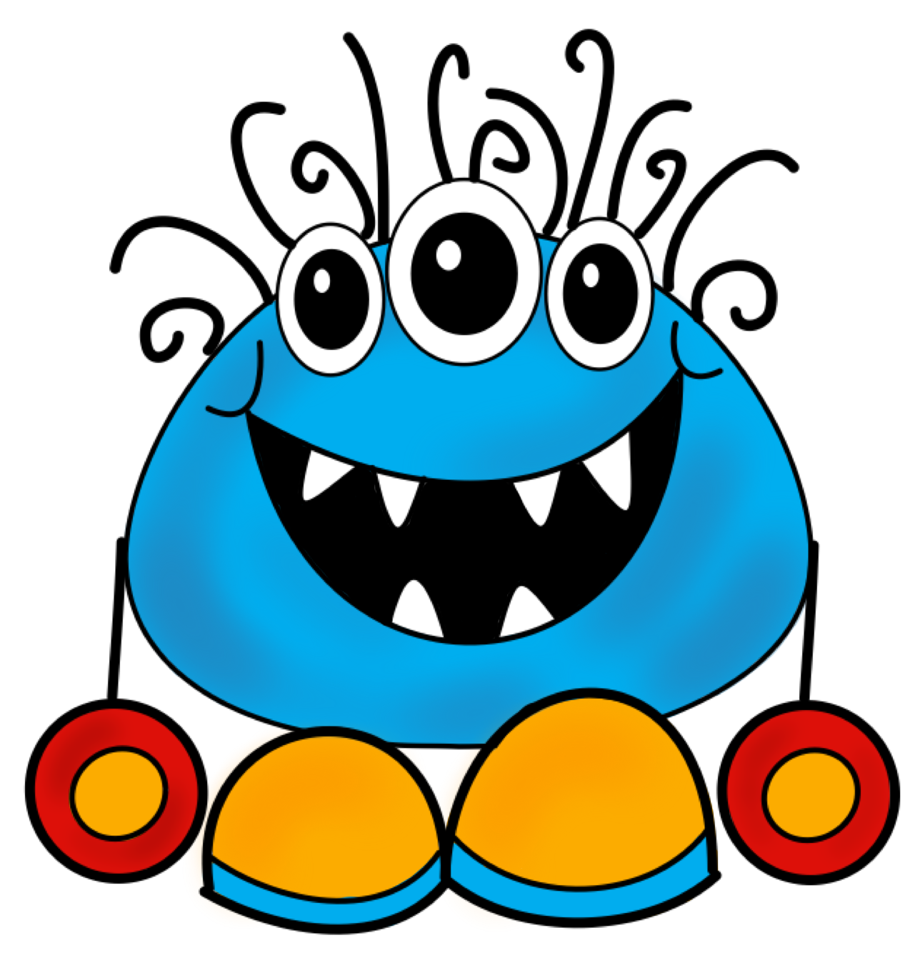 circle clipart monster #59981080