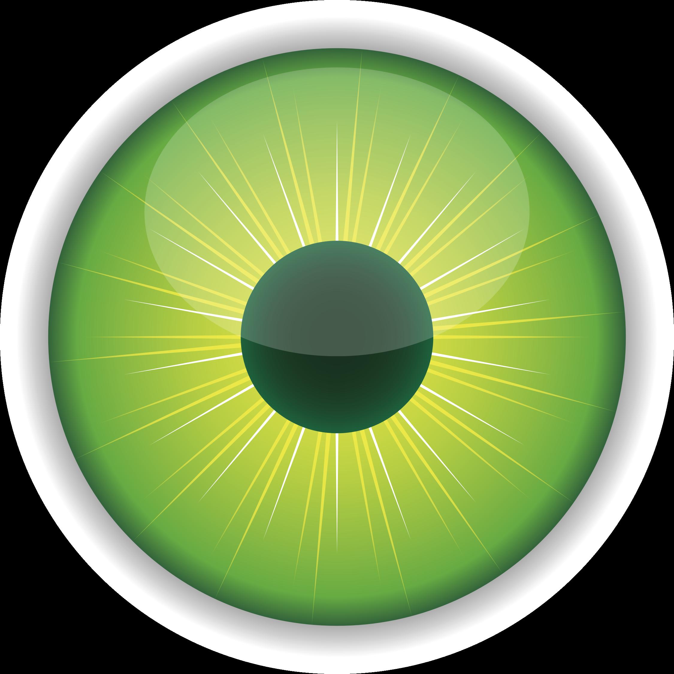Green eye big image. Eyeball clipart dark eyes