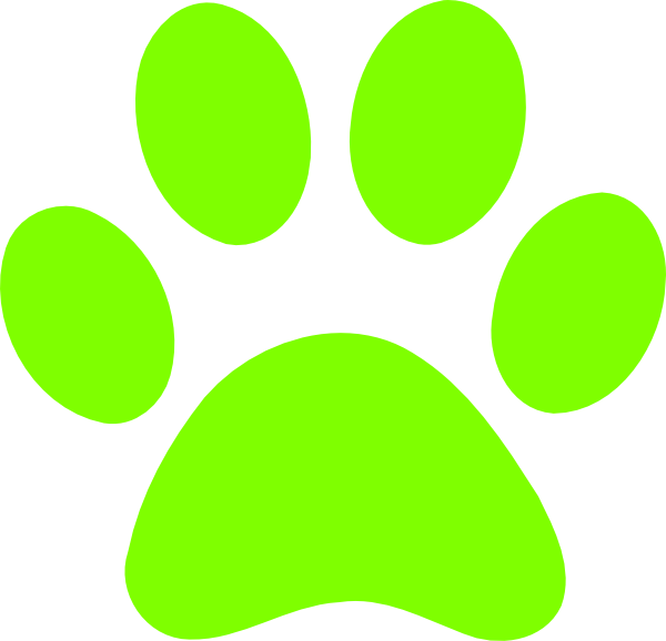 Green clip art at. Paws clipart dow