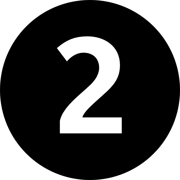 Number 2 clipart black and white Number 2 black and white