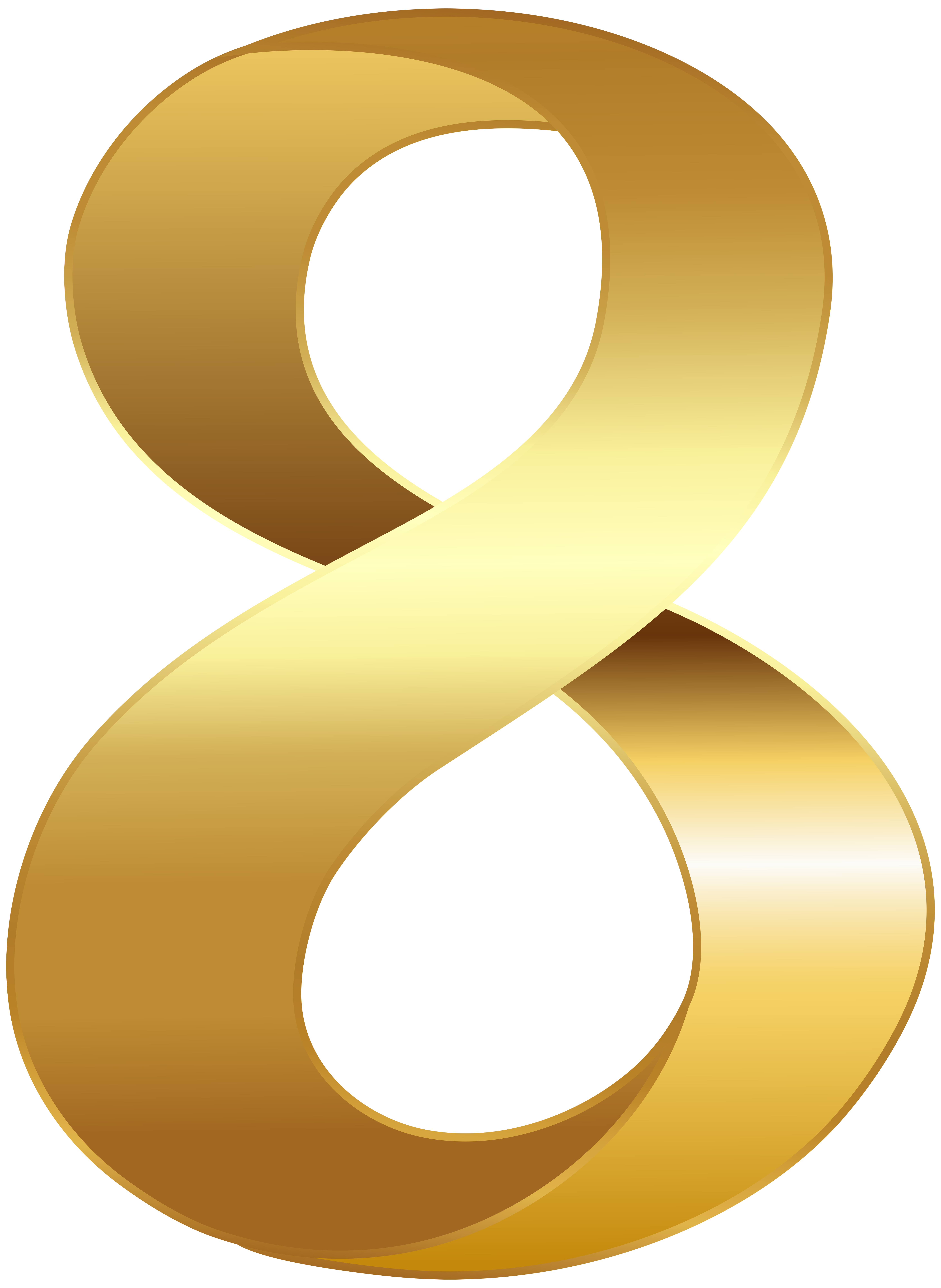 Numbers clipart calligraphy. Golden number eight transparent
