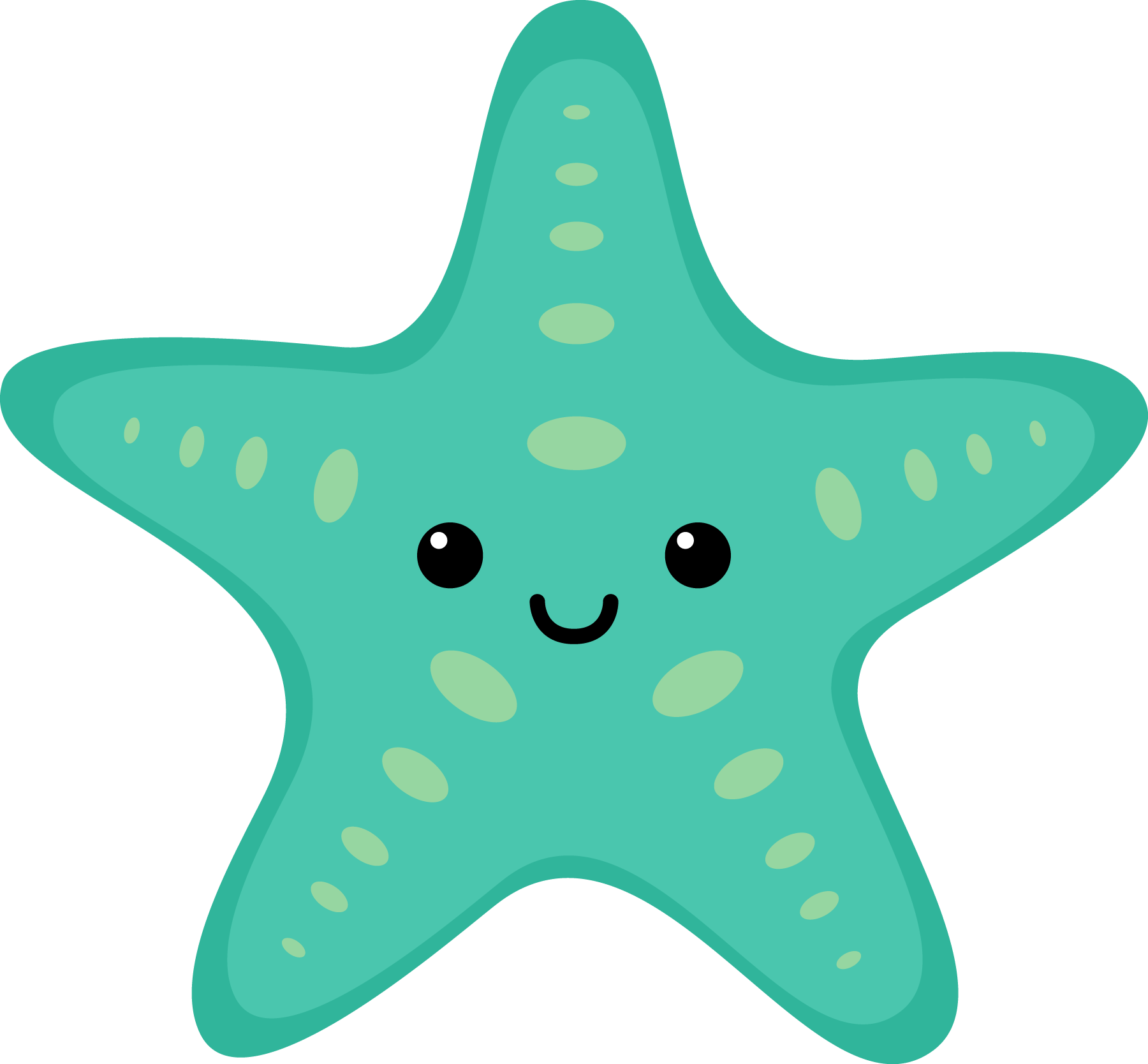 Pet clipart summer. Sea star at getdrawings