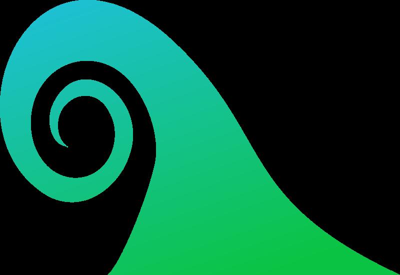 Circle clipart ocean. Wave medium image png