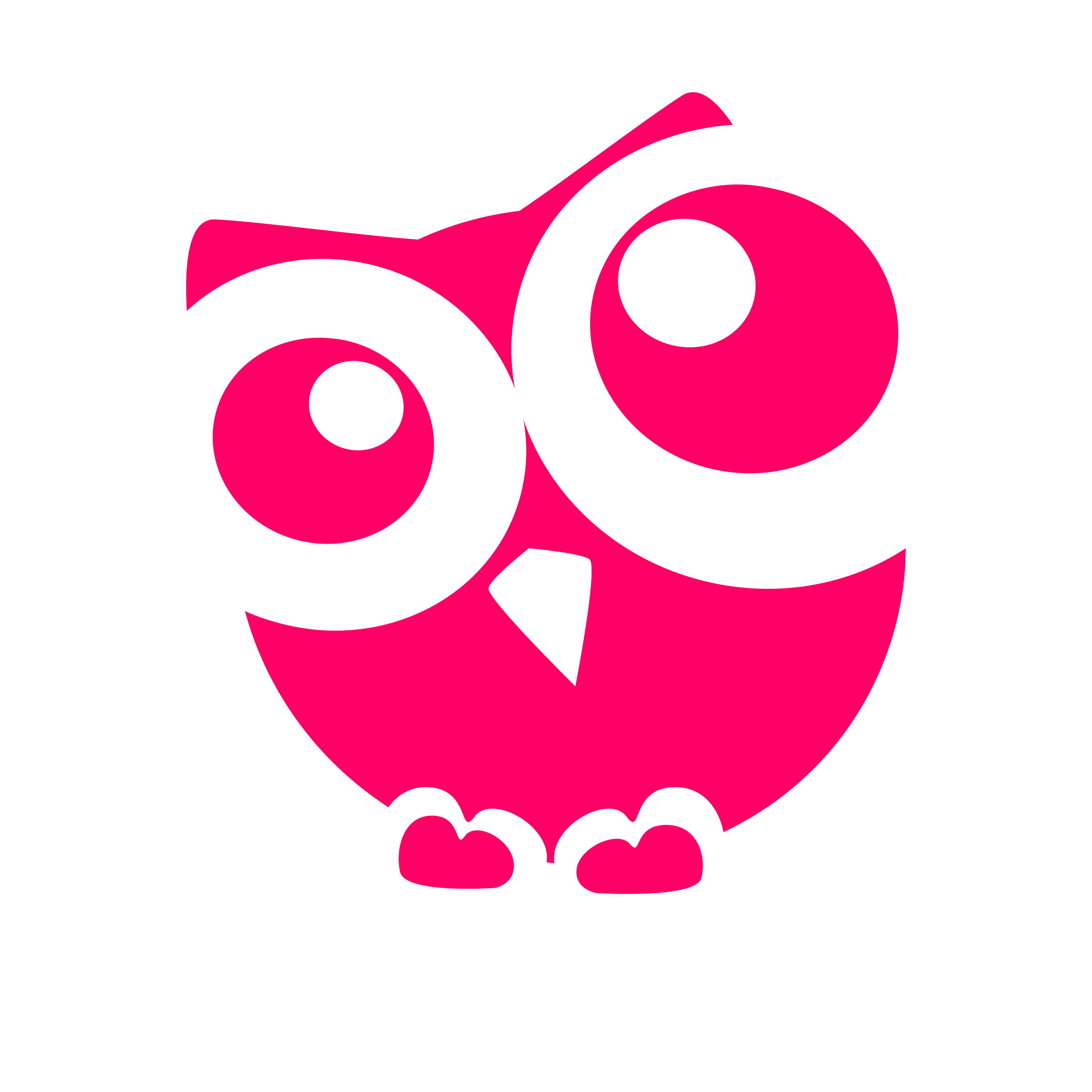 Circle clipart owl. Cute silhouette at getdrawings