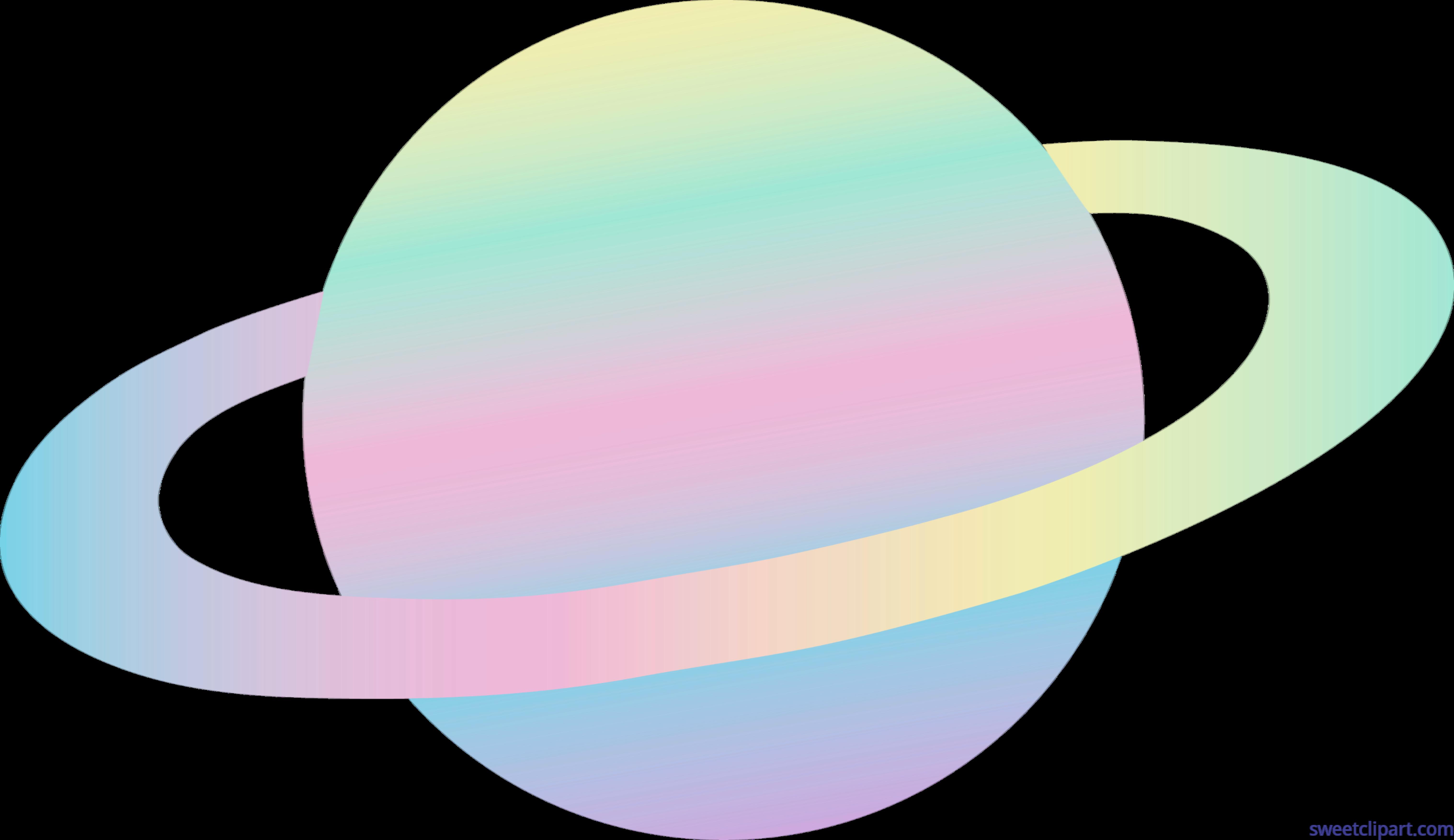 Planeten clipart ringed planet. Alien pastel clip art