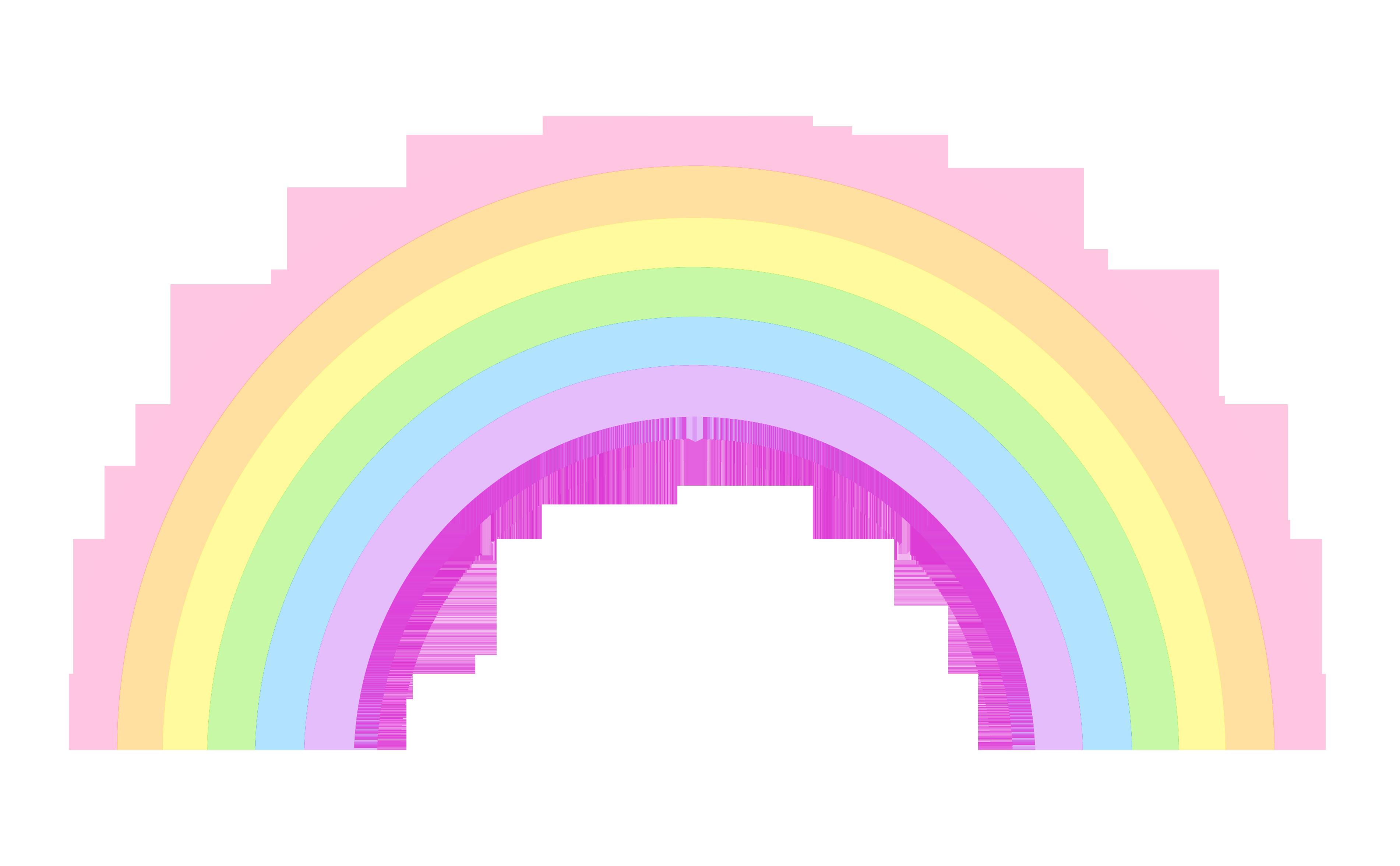 Clipart rainbow printable. Cute pastel clip art