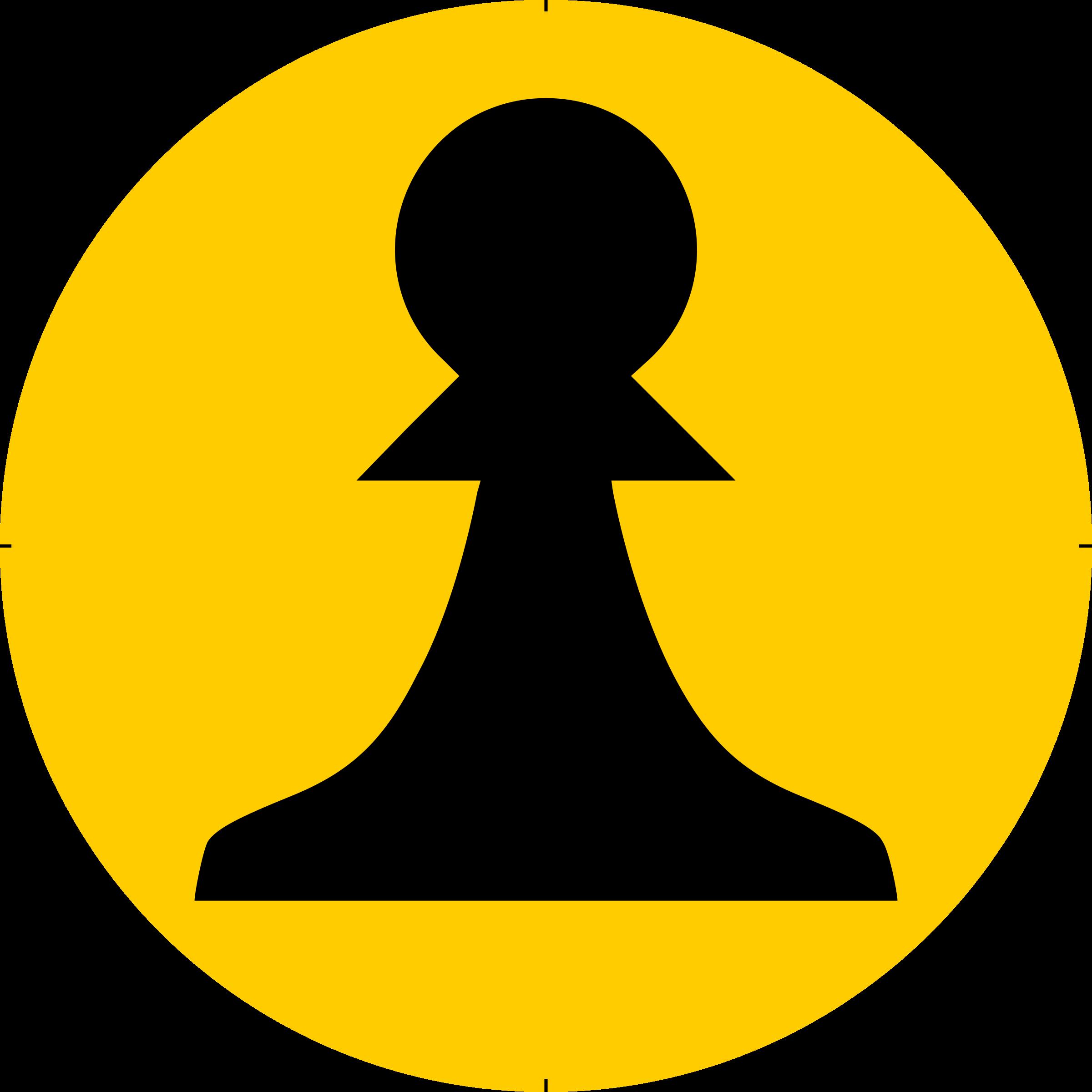 Chess piece symbol black. Writer clipart peon