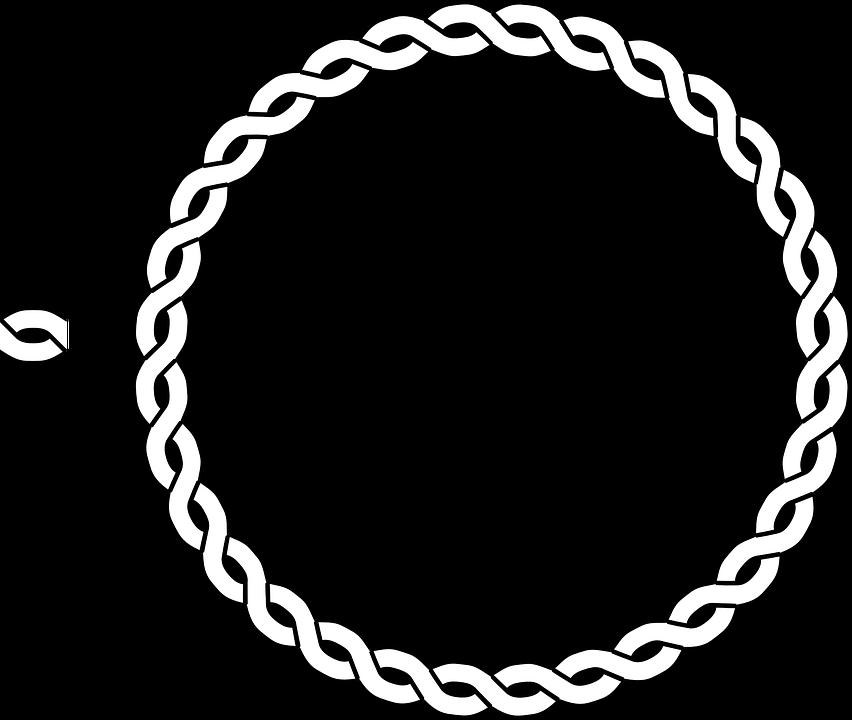 Braid braided rope border. Circle clipart pencil