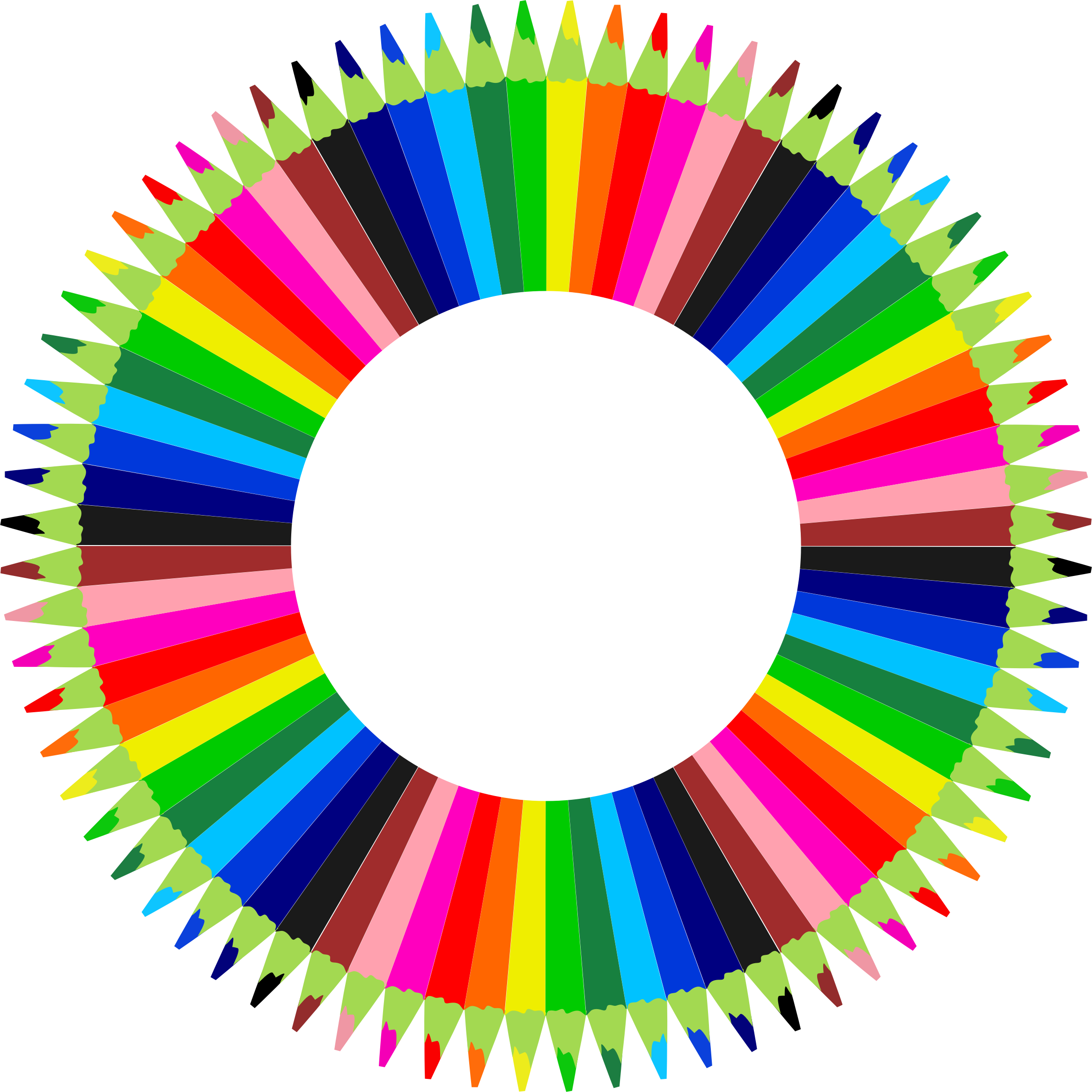 Circle clipart pencil. Colorful pencils frame big