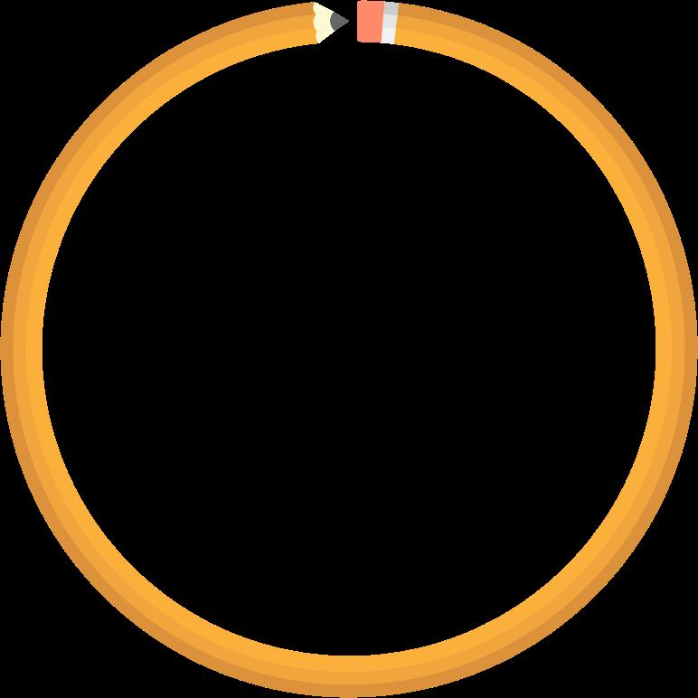 Frame medium image png. Circle clipart pencil