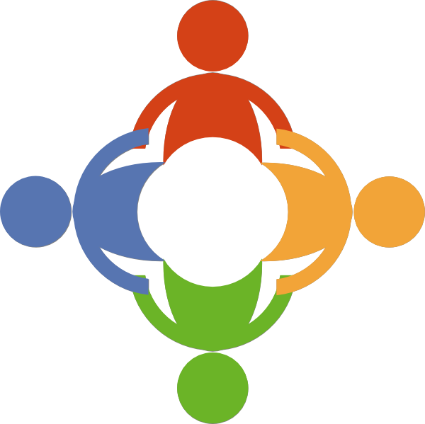 Clipart hands circle. People holding in a