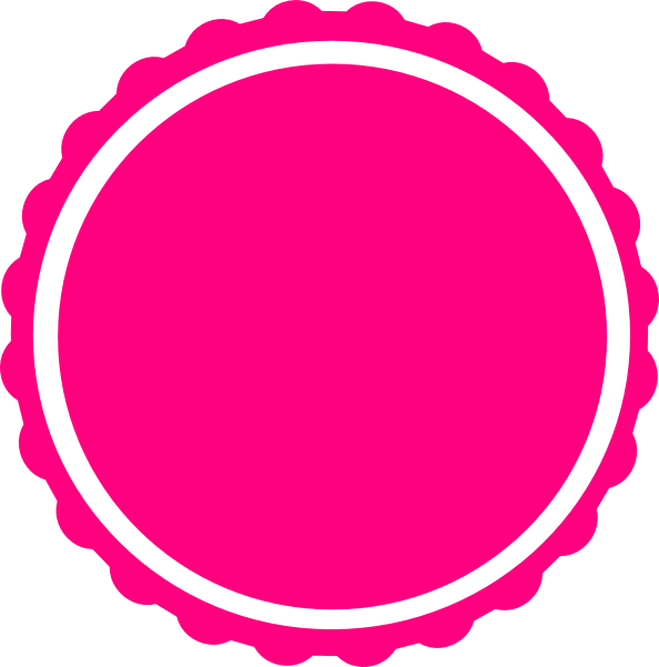 Circle frame png. Teal scallop clip art
