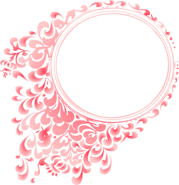 Circle clipart pink. Pretty borders and frames