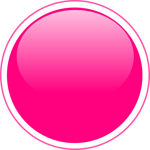 Glossy button clip art. Circle clipart pink