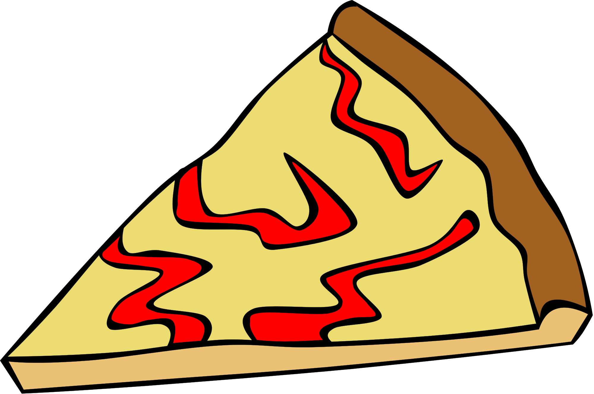 Pizza clipart cheese pizza. Yellow page clip art