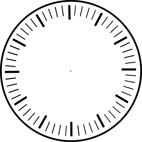 Art clock face template. Circle clipart printable