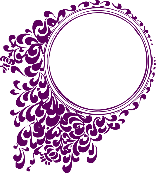 Circle clip art at. Purple clipart filigree