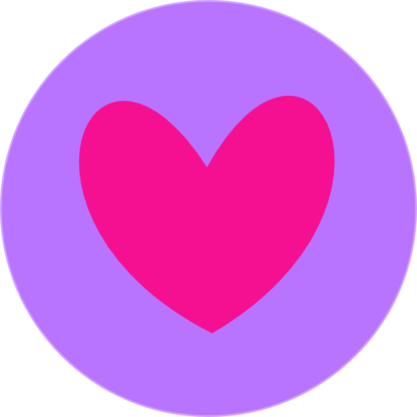 Heart in clip art. Circle clipart purple