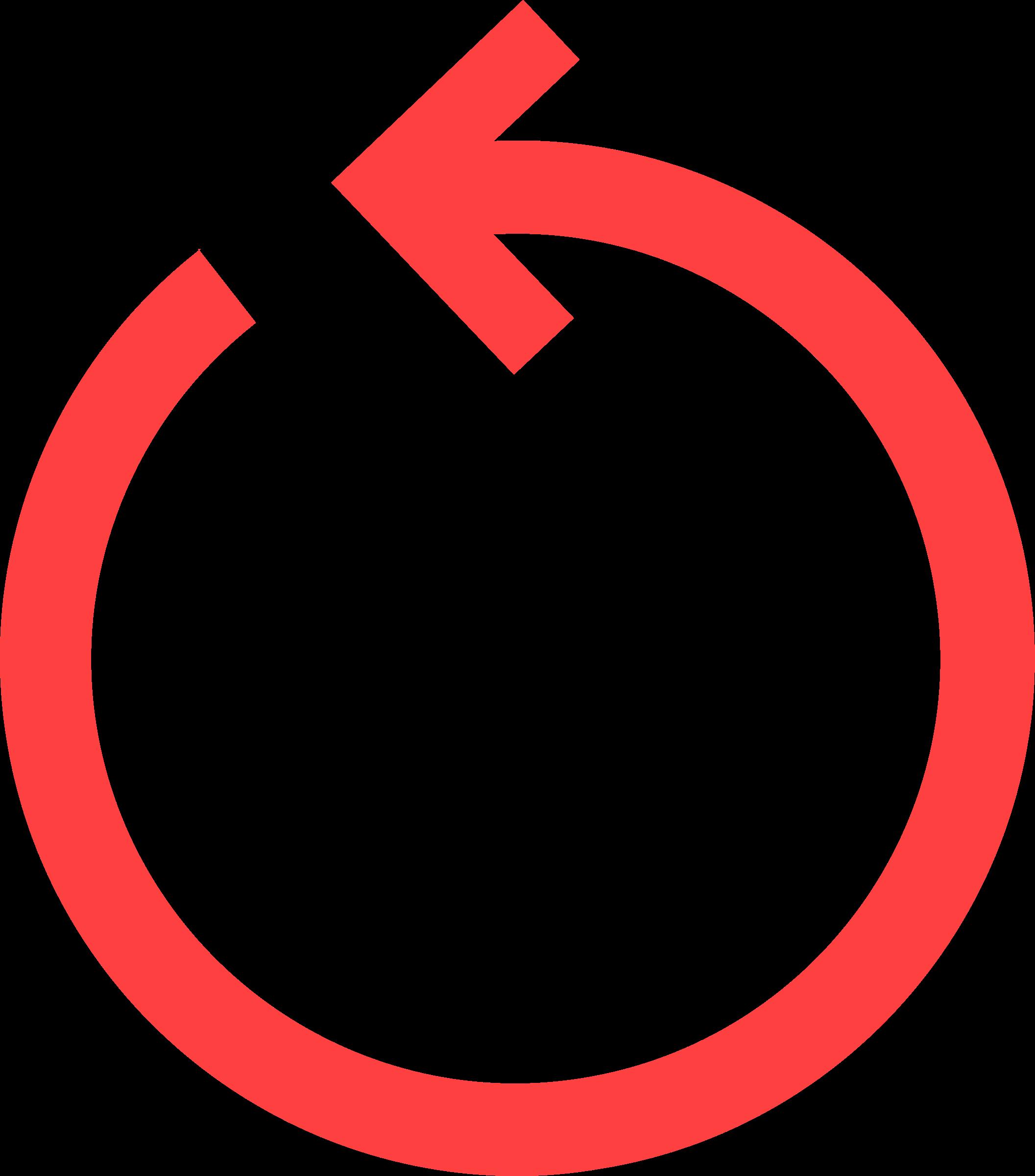 Clipart arrows filigree. Circular arrow red big